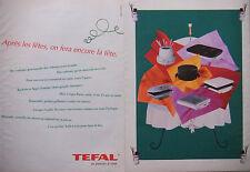 PUBLICITÉ 1991 CASSEROLES TEFAL APRÉS NOËL DÉCORERONT LA CUISILE - ADVERTISING