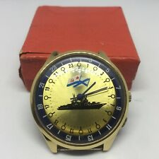 ☭ NOS. New Watch RAKETA 24 AU World Time. Made In USSR *SERVICED*