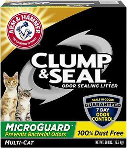 Arm & Hammer Clump & Seal MicroGuard Cat Litter, 28lb