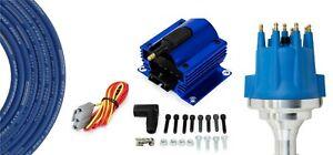 Billet Distributor Ceramic 8.5mm Wires Ford 332 352 360 390 406 410 427 428 FE