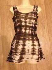 All Saints Cobra Dress Sz 8 UK Will Fit 10 Tie Dye Rare Beach Cover Up Top Vest