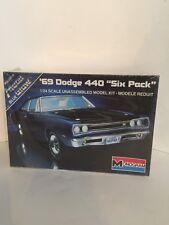 Vintage 1983 Monogram '69 Dodge 440 Six Pack Muscle Car Model Kit 1/24 FS