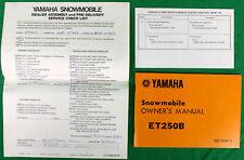 Original 1977 Yamaha Snowmobile Owner's Manual ET250B