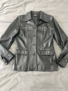 Black Vintage Leather Jacket
