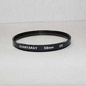 Used Quantaray UV 58mm Lens Filter Made in Japan O31409