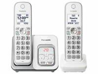 "Panasonic KX-TGD432W Dect 6.0 Plus 2hs Talking Cid Tad 150 Call Block 1.6""white"