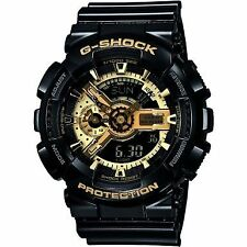 Casio GA-110GB-1AER Mens G-Shock Black and Gold