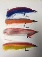 pêche à la mouche EAU DE MER trompeur Paquet de 8 taille 2/0 - 3/0 LEURRE Multi