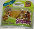 SCOOBY DOO MYSTERY MATES STONE AGE SCOOBY & VELMA. COLLECTIBLE SCOOBY DOO SET