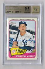 JOHN RYAN MURPHY 2014 HERITAGE REAL ONE ON CARD AUTO RC YANKEES BGS 9.5 10