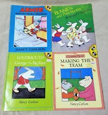 Lot 4 NANCY CARLSON Children's Picture Books ARNIE Bunnies LOUDMOUTH Louanne Pig