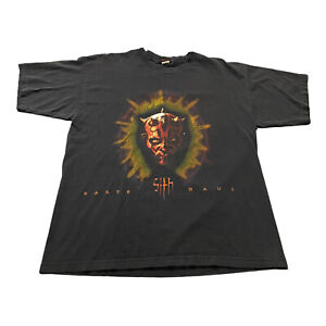 VTG 90s Men's Star Wars Darth Maul Sith Graphic T-Shirt Sz XL Promotional Faded