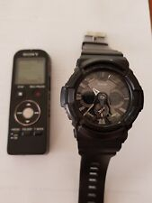 Casio G-Shock GA201-1A Men's Watch + Sony 4GB Digital Voice Recorder Police Pack