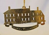 Gold Plated Ornament Colonial Williamsburg Peyton Randolph House