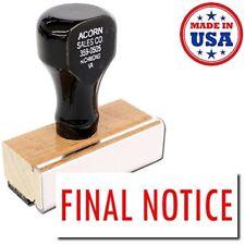 Acorn Sales - Final Notice Rubber Stamp