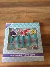 Brand new 10 Hanging photo clips featuring characters from The Little Mermaid