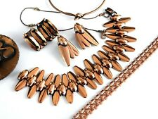 Lot Vintage Enamel Copper Modernist Contemporary Jewelry Bracelets Costume