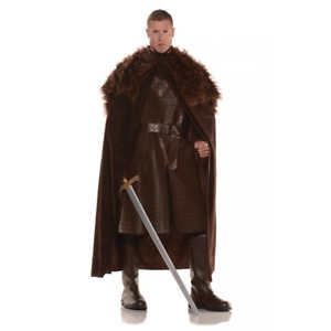 Game Of Thrones Costume Cloak Jon Snow Sam Tarly Faux Fur Cape Knights Watch