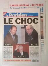 LE PARISIEN (Ed Essonne) du 22/04/2002 -1er tour élection présidentielle:le choc