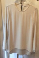 Bruno Cucinelli Ivory Silk Layered Blouse Size L NWOT