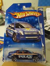 Hot Wheels Ford Fusion HW City Works Police Blue Snowflake Card