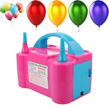 Portable High Power Two Nozzle Air Blower Electric Balloon Inflator Pump for US