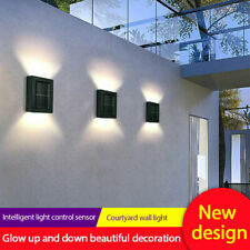 HOT~ 2PC Solar Wall Lamp Outdoor Garden Waterproof Light Up&down Decorative Lamp