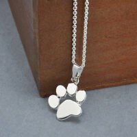 Cute Dog Puppy Kitty Cat Pet Paw Footprint Tag Pendant Necklace Chain Jewellery