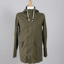 Topman Green Khaki Fishtail Parka Coat Jacket Small