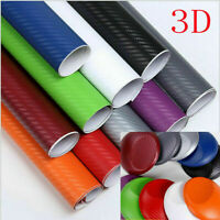 Black Carbon Fiber Vinyl Car Auto 3D 4D Wrap Sheet Roll Film Sticker Decal New *