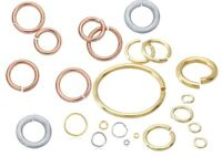 14K Solid Gold Round Open Jump Rings 22 Gauge .65mm Chain Ends Range 1.1-6mm ID