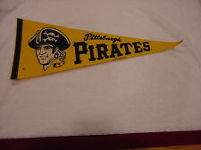 VINTAGE 1960's Pittsburgh Pirates Full Size 29 Inch Pennant, VERY NICE!