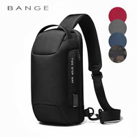 BANGE 2020 Men's Chest bag Anti-theft lock waterproof with USB charging