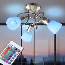 LED RVB LA VIE ess Chambre Lumière de Plafond Éclairage verre blanc 3x SPOTS