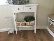 H85 W60 D20cm BESPOKE WHITE CONSOLE HALL TELEPHONE PLANT BEDROOM TABLE DRAWERS