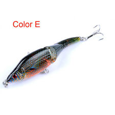9.5cm/8.9g Painted 3 Sections VIB 3d Eyes Full Depth Bionic Fishing Lure Hook AU Color E