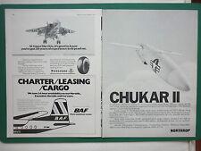 9/78 PUB NORTHROP MQM-74C CHUKAR II DRONE TARGET BRITISH AIR FERRIES JAGUAR AD