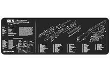 SKS Rifle Armorers Gun Cleaning Bench Mat w/Exploded View Schematic Parts List