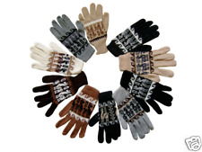 WHOLESALE LOT OF 50 PAIRS OF ALPACA GLOVES ADULT SIZE