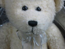 FABULOUS CREAM ANGEL BEAR SILVER WINGS HALO CHERISH TEDDY PLUSH STUFFED ANIMAL