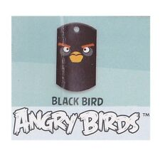 ANGRY BIRDS SERIES 1 - 16/20 Black Bird Dog Tag + Mini Sticker Sheet & Checklist