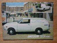 DATSUN SUNNY 120Y VAN orig 1977 UK Mkt Sales Leaflet Brochure - Nissan
