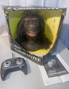Hollywood Chimpanzee Wowee Alive Animatronic Head Partially Works W/box Remote