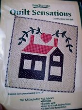 Country Home Wall Quilt Kit, Fabric Traditions Quilt Sensations
