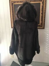 NWOT AUTH A. FORNALE ORYLAG FUR COAT W REAL RACCOON TRIM SZ L