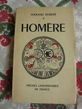 1950 Homère Robert grèce antiquité histoire Presse Universitaire de France