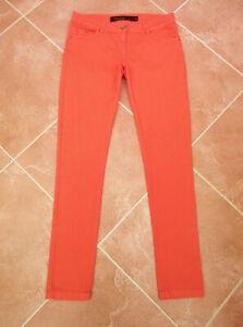 Next - Lift & Shape - Bright Coral Orange Skinny Stretch Jeans - size 12L