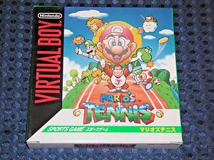 RARE 100% BRAND NEW Nintendo 3D VB Virtual Boy Mario's Tennis VR JAPAN F/S