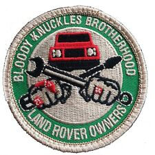 "LAND ROVER Series-Defender ""Bloody Knuckles Brotherhood"" VELCRO®-backed Patch"