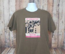"""The Who """"My Generation"""" Men's Brown Dual Graphic T Shirt Size Extra Large XL"""